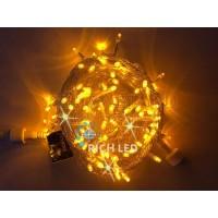Гирлянда нить (10 м) свет желтый мерцающий провод прозрачный RL-S10CF-24V-T/Y RichLED