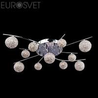 Люстра потолочная 80009/11 хром/синий+красный+фиолетовый Eurosvet