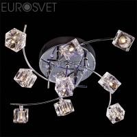 Светодиодная люстра с пультом 4976/9 хром/синий+красный+фиолетовый Eurosvet