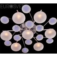 Светодиодная люстра с пультом 5605/7 хром/синий+красный+фиолетовый Eurosvet