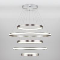 Подвесная светодиодная люстра Olympia 90179/5 сатин-никель 145W Eurosvet