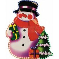 """Световая фигура """"снеговик"""", 3м лапмы мульти, 36 ламп/1м, 79*62см Feron"""
