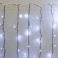 Гирлянда Занавес, 2х1м., 200 LED, ЛАЙТ, холодный белый, без мерцания LED-IL200-2010-230-W(2X1)-T G05-1917 Гирлянда.РФ
