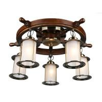 Люстра деревянная потолочная OML-50307-05 OMNILUX