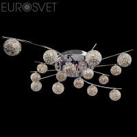 Люстра потолочная 80009/16 хром/синий+красный+фиолетовый Eurosvet