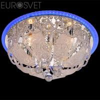Светодиодная люстра с пультом Диско 80100/8 хром/голубой Eurosvet