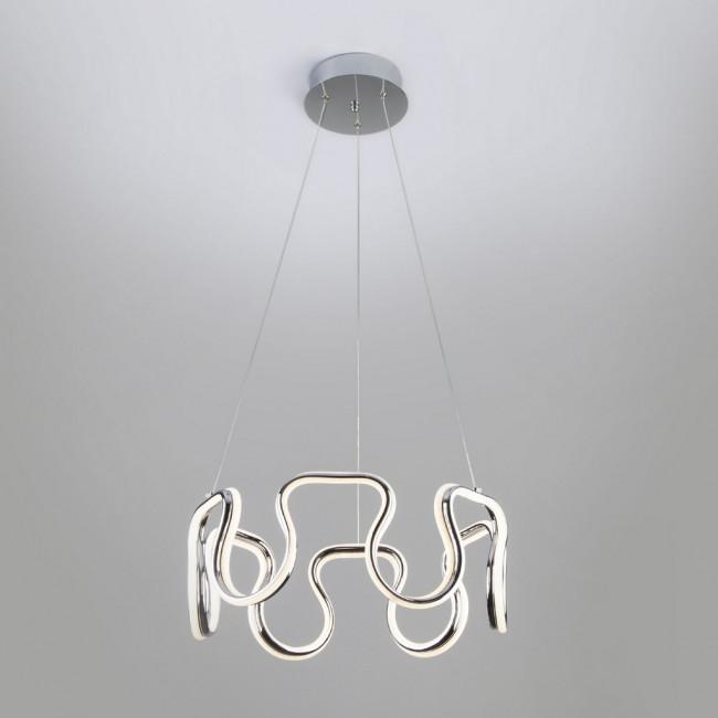 Подвесная светодиодная люстра Sorge 90171/2 хром 142W Eurosvet