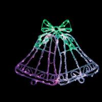 Световая фигура Колокольчик 26710 LT012 белый+зеленый+розовый 10,8W контроллер Feron