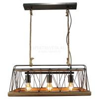 Подвесной деревянный светильник MATANUSKA LSP-8067 Lussole