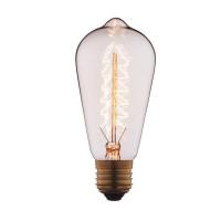 Лампа накаливания E27 60W прозрачная 6460-S Loft IT