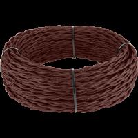 Ретро кабель витой 2х2,5 (итальянский орех) 50 м под заказ Ретро кабель витой 2х2,5 (итальянский орех) Werkel