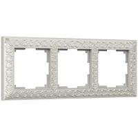 Рамка на 3 поста (жемчужный) WL07-Frame-03 Werkel