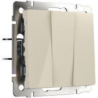 Выключатель трехклавишный (слоновая кость) WL03-SW-3G-ivory Werkel