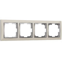 Рамка на 4 поста (слоновая кость/хром) WL03-Frame-04-ivory Werkel