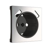 Накладка для USB розетки (глянцевый никель) WL02-USB-CP Werkel