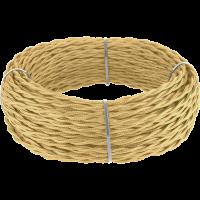 Ретро кабель витой 2х2,5 (золотой песок) 50 м под заказ Ретро кабель витой 2х2,5 (золотой песок) Werkel