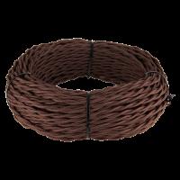 Ретро кабель витой 2х1,5 (коричневый) 20 м (под заказ) Ретро кабель витой 2х1,5 (коричневый) 20м Werkel