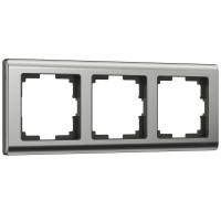 Рамка на 3 поста (глянцевый никель) WL02-Frame-03 Werkel