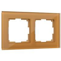 Рамка на 2 поста (бронзовый) WL01-Frame-02 Werkel