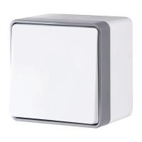 Выключатель одноклавишный влагозащищенный Gallant (белый) WL15-01-02 Werkel