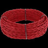 Ретро кабель витой 2х1,5 (красный) 50 м под заказ Ретро кабель витой 2х1,5 (красный) Werkel