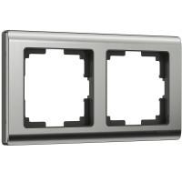 Рамка на 2 поста (глянцевый никель) WL02-Frame-02 Werkel