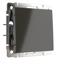 Выключатель одноклавишный проходной (серо-коричневый) WL07-SW-1G-2W Werkel