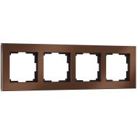 Рамка на 4 поста (коричневый алюминий) WL11-Frame-04 Werkel