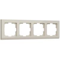 Рамка на 4 поста (слоновая кость) WL04-Frame-04-ivory Werkel