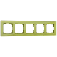 Рамка на 5 постов (фисташковый) WL01-Frame-05 Werkel