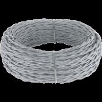 Ретро кабель витой 2х1,5 (серый) 50 м под заказ Ретро кабель витой 2х1,5 (серый) Werkel