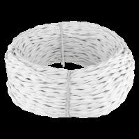Ретро кабель витой 2х1,5 (белый) 20 м (под заказ) Ретро кабель витой 2х1,5 (белый) 20м Werkel