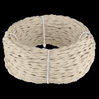 Ретро кабель витой 3х1,5 (песочный) 20 м (под заказ) Ретро кабель витой 3х1,5 (песочный) 20м Werkel