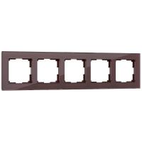 Рамка на 5 постов (мокко) WL01-Frame-05 Werkel