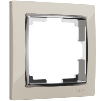 Рамка на 1 пост (слоновая кость/хром) WL03-Frame-01-ivory Werkel