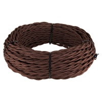 Ретро кабель витой 3х1,5 (коричневый) 20 м (под заказ) Ретро кабель витой 3х1,5 (коричневый) 20м Werkel