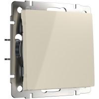 Выключатель одноклавишный проходной (слоновая кость) WL03-SW-1G-2W-ivory Werkel
