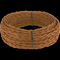 Ретро кабель витой 2х1,5 (медный) 50 м под заказ Ретро кабель витой 2х1,5 (медный) Werkel