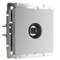 ТВ-розетка оконечная (серебряный) WL06-TV Werkel