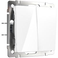 Выключатель двухклавишный (белый) WL01-SW-2G Werkel