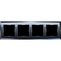 Рамка на 4 поста (черный) WL08-Frame-04 Werkel