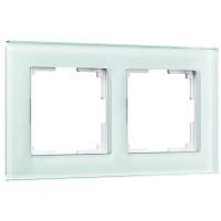 Рамка на 2 поста (натуральное стекло) WL01-Frame-02 Werkel