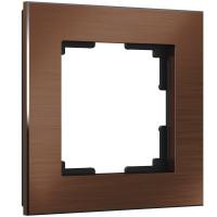Рамка на 1 пост (коричневый алюминий) WL11-Frame-01 Werkel