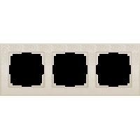 Рамка на 3 поста (слоновая кость) WL05-Frame-03-ivory Werkel