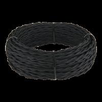 Ретро кабель витой 2х1,5 (черный) 50 м Ретро кабель витой 2х1,5 (черный) Werkel