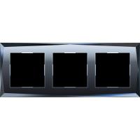 Рамка на 3 поста (черный) WL08-Frame-03 Werkel