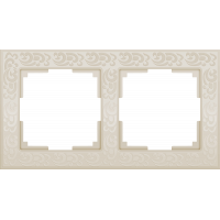 Рамка на 2 поста (слоновая кость) WL05-Frame-02-ivory Werkel