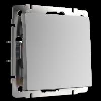 Перекрестный переключатель одноклавишный (серебряный) WL06-SW-1G-C Werkel