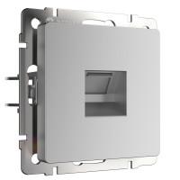 Розетка Ethernet RJ-45 (серебряный) WL06-RJ-45 Werkel