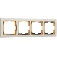 Рамка на 4 поста (слоновая кость/золото) WL03-Frame-04-ivory-GD Werkel